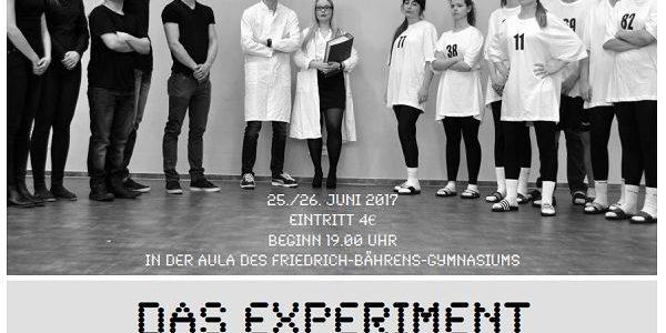 "FBG-Literaturkurs spielt ""Das Experiment"""