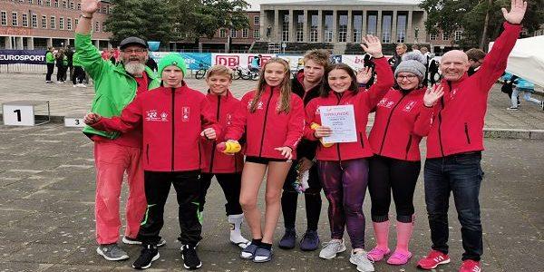 FBG Triathlon Mannschaft beim Bundesfinale Jugend trainiert für Olympia (JTFO)unter den besten acht Teams