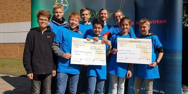 Schülerteams der Jahrgangsstufen 6 und 9 des FBGs belegen vordere Plätze beim Tag der Chemie des Bayer-Konzerns am 21.9.2019 in Bergkamen