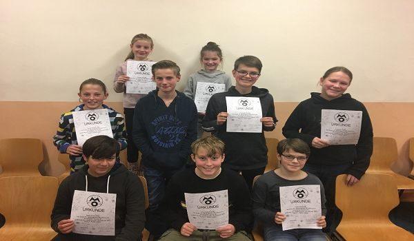 FBG Schülerinnen und Schüler erfolgreich bei der 2. Runde der Mathematik-Olympiade 2019